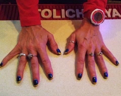 Depauli's Blues-inspired manicure