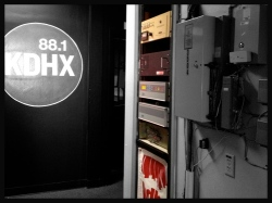 The middle hallway of KDHX Magnolia