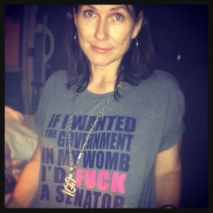 Kelley Deal supports St. Louis (and women's rights) in 2012, photo by Jaime Lees