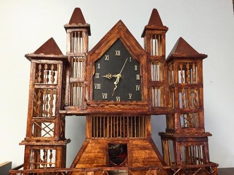Clock made by serial killer Henry Lee Lucas. / photo by Jaime Lees