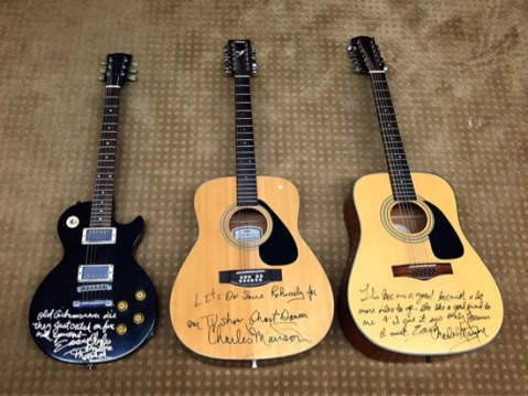 The three guitars. / photo by Jaime Lees