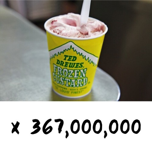 Clearly the tastier option. / photo of concrete from TedDrewes.com