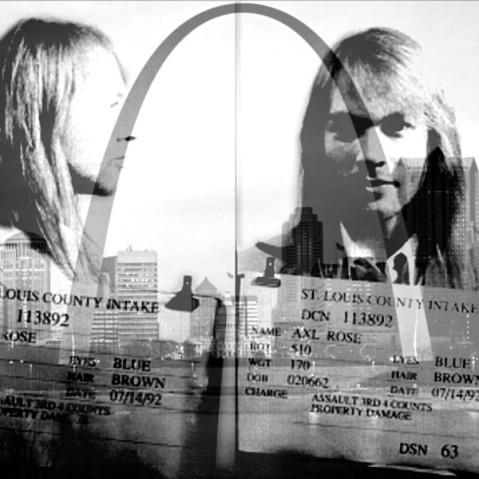 Axl Rose mugshot art