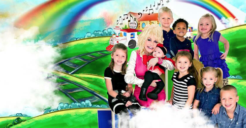 A promotional photo for Dolly Parton's Imagination Library